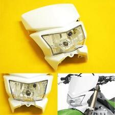 White Dirt Bike Motorcycle Headlight Fairing Enduro Cross Dual Sport Dirtbike