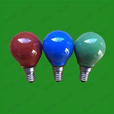 2x 15W coloré Rond Ampoules Eclairage Balle De Golf,Petit Bouchon À Vis Edison