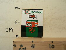 STICKER,DECAL  OM TESTED TRACTOR TREKKER TOOLS APPARATUUR A
