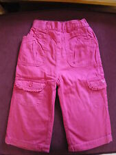 Girls cerise pink combat style trousers 12 to 18 months EX COND!!