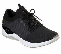 Skechers SKLX Shoes Black Men's Sport Memory Foam Casual Comfort Knit Walk 52544