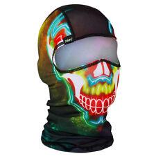 Electric Skull Neon Ski Snowboard Motorcycle Bike Winter Face Mask Balaclava NEW