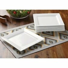 Better Homes and Gardens Square Salad Plates, White, Set  W