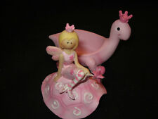 New Pink Fairy Sitting On Pink Turtle Trinket Jewlery Box Magical Wish Girlie