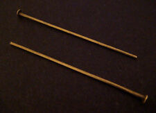 200 HEAD PINS ANTIQUE BRONZE 40MM LONG 0.7MM THICK