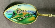 Sterling .800 Silver Souvenir Spoon-Rigi-Kulm, Switzerland-Enamel Bowl-