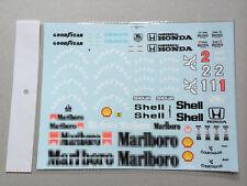 Full markings Decal for Tamiya 1/12 McLaren MP4/6  A. Senna Tobacco F1