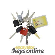 Excavator 9 Key sets x 4  for Heavy Plant Excavators Dozers etc