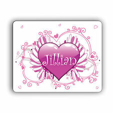 New Personalized Computer Mouse Pad Heart Design