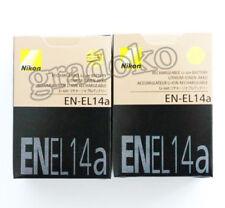2 X EN-EL14A Camera battery for Nikon Df P7800 D5300 EL14a EL14 Mh-24 1230mah