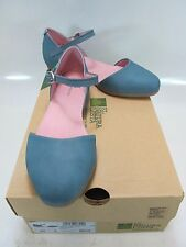 EL NATURALISTA Womens STELLA N033 Blue Leather Two Piece Ballet Flat US 7