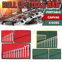 Spanner Wrench Canvas Pocket 10/14/20 Pouch Roll Up Tool Storage Bag  HH US