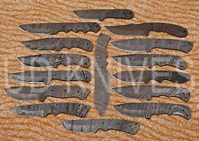 LOT OF 15 |UD HANDMADE 1095 DAMASCUS ART FULL TANG HUNTER KNIFE |BLADE LOT 10444