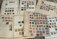 CZECHOSLOVAKIA LOT OF STAMPS ON ALBUM PAGES, MOSTLY FROM 1910's-1930's