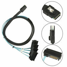 New Mini SAS 36P SFF-8087 to 4 SFF-8482 Connectors With SATA Power Cable 1M US