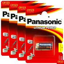 4 x Panasonic Lithium CR123 batteries 3V CR123A CR17345 Camera Photo EXP:2026