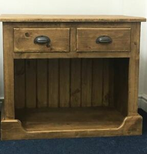 Hand made Solid Sideboard with Pet Bed -Cushion Pet dog cat bed included