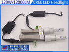 H7 H1 CREE LED Car Headlight Kit 120W 12000LM Bulb 6000K Replace Halogen Xenon
