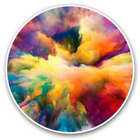 2 x Vinyl Stickers 7.5cm - Watercolour Cloud Explosion Paint Cool Gift #14638