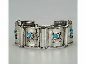 New Shablool Sterling Silver blue simulated opal Bracelet for Women
