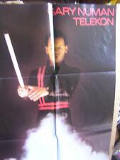 Gary Numan, telecomunicazione LP M -/VG + OIS/M-POSTER/M-Beggars Banquet Bega 19 Inghilterra.