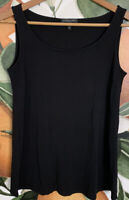 Eileen Fisher PP Petite Small Black 100% Silk Tank Top Blouse Sleeveless