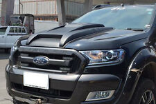 MATTE BLACK BONNET HOOD SCOOP VENT COVER FORD RANGER MK II XLT PX WILDTRAK 15 16