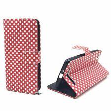 Schutz Hülle für Xiaomi Redmi 3 Polka Dot Rot Tasche Case Wallet + 1 Panzer Schu