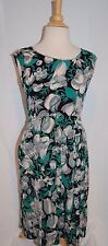 FAB! VTG 1930s FRUIT & FLORAL PRINT crepe rayon COCKTAIL WIGGLE DRESS party SZ S