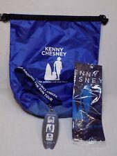 Kenny Chesney Trip Around the Sun Tour Lot Bag Flag Vip Lanyard Pass Set 2018 +
