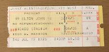 1976 ELTON JOHN CHICAGO CONCERT TICKET STUB GOODBYE YELLOW BRICK ROAD DANIEL