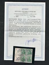 D. Reich Zusammendruck H-Blatt 3 gestempelt mit Attest    20269