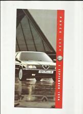 ALFA ROMEO 33, 155 e 164price elenco vendite opuscolo 1994