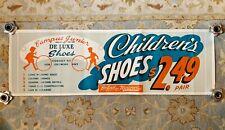 Vintage Campus Junior Children's Shoes Advertising Poster * Neisner's Dept Store
