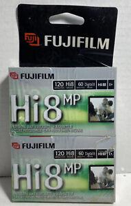 Fujifilm Hi8 MP P6-120 Pro Grade Videocassette Tapes (2 Pack) Sealed G1