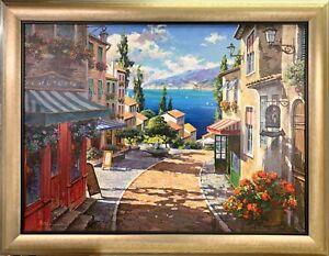 Metlan Anatoly Original Oil Painting Landscape-Framed