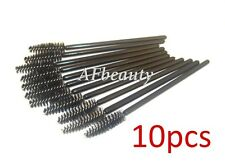 10x Disposable MASCARA BRUSHES black Wands for Eyelash/Extension/Tinting