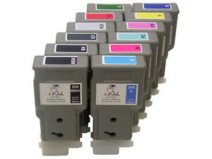 12 InkOwl 300ml Compatible Cartridges for CANON PFI-206 iPF6400 iPF6450