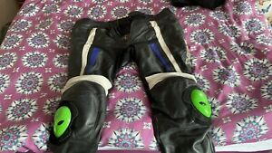 Rst Leather Trousers Pants with alien knee sliders - size 42