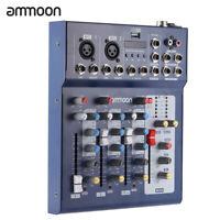 F4-USB Mischpult 3-Kanal Mini Audio Mixer Record DJ Konsole Verstärker W6B9