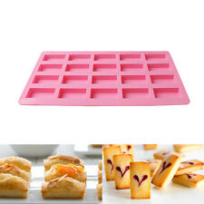 20-Rectangle Silicone Mold Bread Toast Bakeware Loaf Pan Cake Baking DIY Tool
