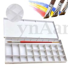 25 Well Watercolor Oil Case Box Acrylic Art Paint Mixing Palette Draw Tray (W3)