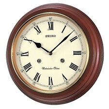 Seiko Wooden Westminster or Whittington Chime Station School Wall Clock QXH202B