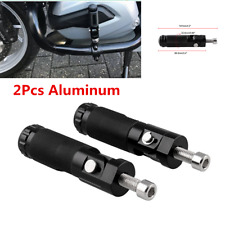 2Pcs Aluminum Motorcycle Bicycle Folding Foot Pegs Rear Footrest Pedals Steps