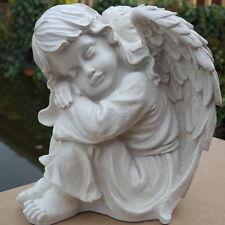 Dekofigur Engel Mädchen Grabschmuck Weiß Garten Weihnachten Deko