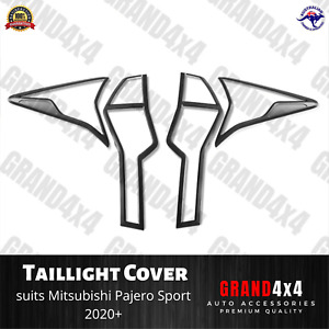 Matte Black Rear Light Trim Cover to suit Mitsubishi Pajero Sport 2020+