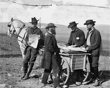 Newspaper vendors with cart in Union Camp 1863 New 8x10 US Civil War Photo
