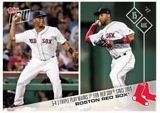 2017 Topps Now #483 4TH-INNING TRIPLE PLAY MARKS FIRST SINCE 2011 - RED SOX