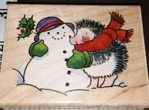 Penny black, you make me blush hedgehog, snowman,207,rubber, wood