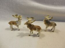New ListingVintage Japan Bone China Miniature Moose Family Figurines Set of 3